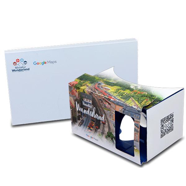 Google Cardboard Werbung mit Google Street View Miniatur Wunderland