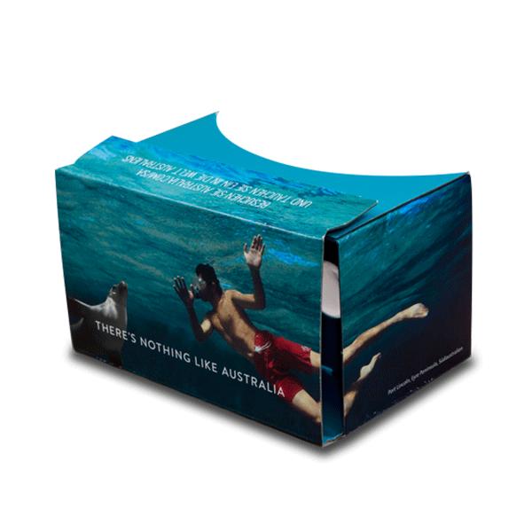Google Cardboard Beilage für Reisemagazin Wissenschaftsmagazin – Geo Saison & Zeit Wissen